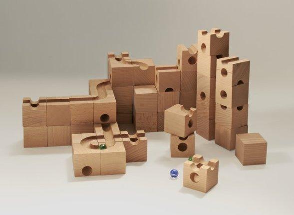 cuboro - costruzioni e pista per lebiglie