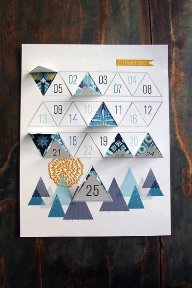 calendario avvento geometrico