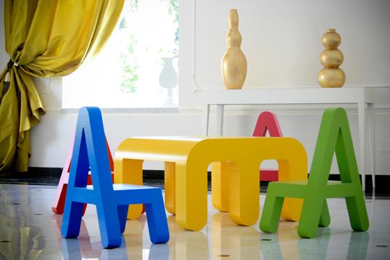 Letters design mobili per i bambini mercatino dei piccoli - Mobili per bambini divertenti ...