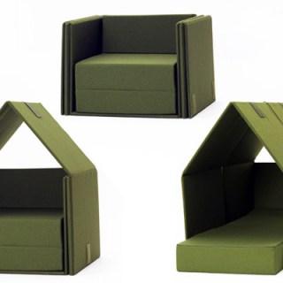 Letto, casetta e sofà