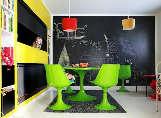 Parete Lavagna Cameretta : Idee per decorare la parete della cameretta in maniera originale