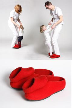 pantofole rosse danzanti