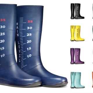 Gli stivali segna pioggia
