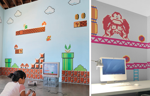 super mario wall decals