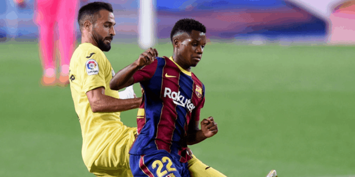 Ansu Fati is the star of the Barcelona and Villarreal match