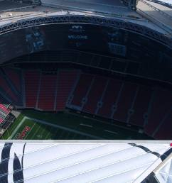 mercedes benz stadium officials announce sunday s falcons vs packers game will be team s first open air game since 1991 in atlanta weather permitting  [ 3840 x 2160 Pixel ]