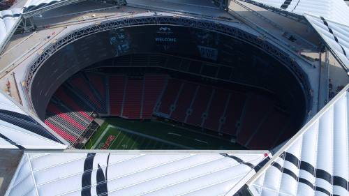 small resolution of mercedes benz stadium officials announce sunday s falcons vs packers game will be team s first open air game since 1991 in atlanta weather permitting
