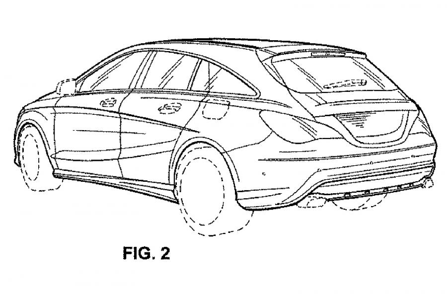 Patent photos reveal the 2017 Mercedes-Benz CLA Shooting
