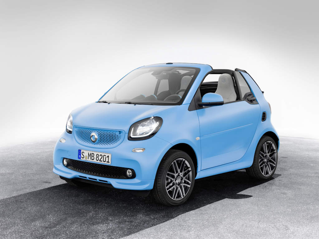 baby blue smart fortwo