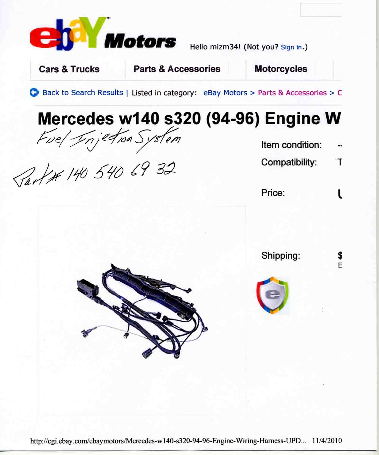 hight resolution of 1995 s320 engine wire harness img008 jpg