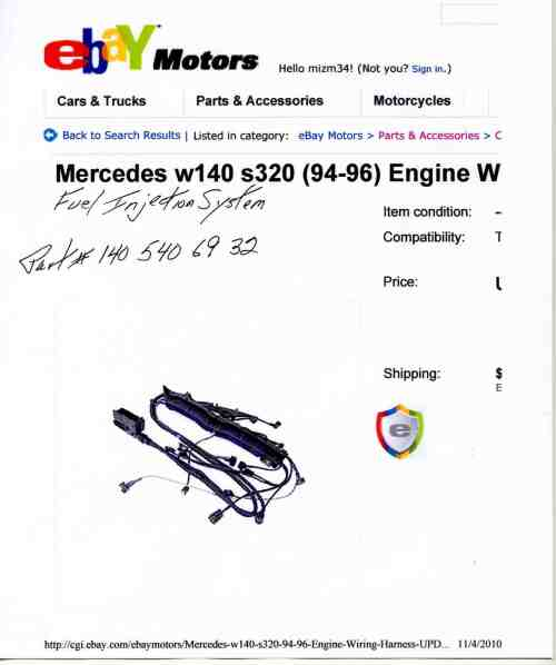 small resolution of 1995 s320 engine wire harness img008 jpg