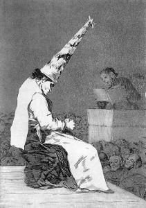 Shame by Francisco Goya [Public domain]