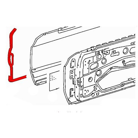 W126 DRIVERS DOOR OUTER SEAL GENUINE MERCEDES OLD STOCK