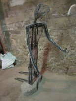 My kneeling man - he now needs to be covered in concrete - then mosaic'd