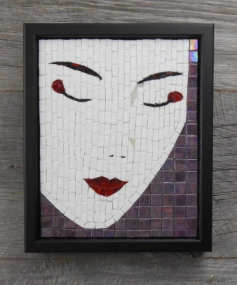 mosaic geisha face
