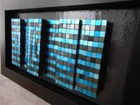 Mercedes Mosaics - blue and black gold blocks geo pattern imgc