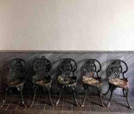 Cinco sillas de patio «Coalbrookdale»