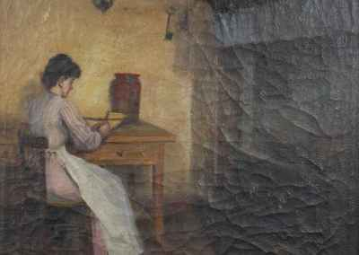 Oleo sobre lienzo Joaquin Siguenza y Chavarrieta