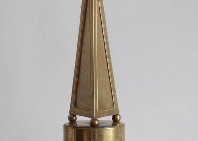 Pináculo en bronce con Galeno