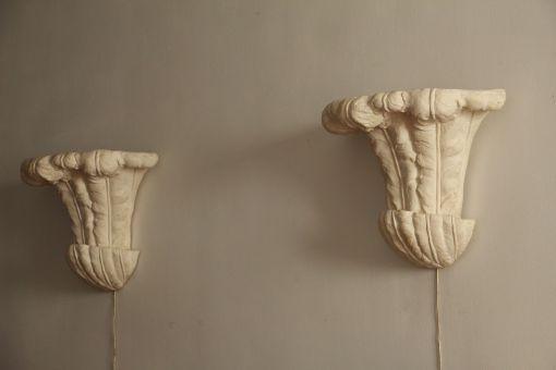 Pareja de plafones de escayola, Inglaterra. Años 40