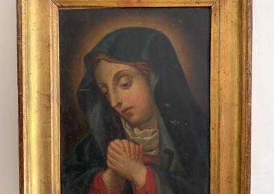 Óleo sobre cobre de la Virgen