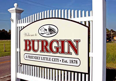 Burgin sign
