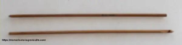 crochet en bambou n 3,5