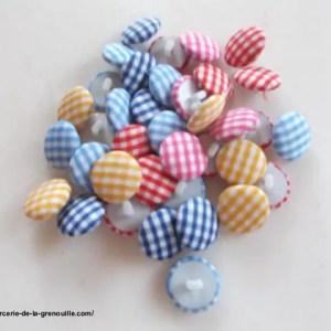 réf 05-t-16-020 bouton recouvert de tissu