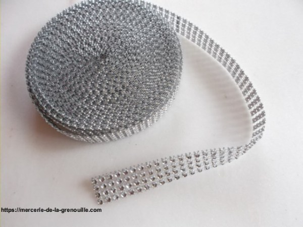 réf 10-s-20 ruban galon strass 2 cm