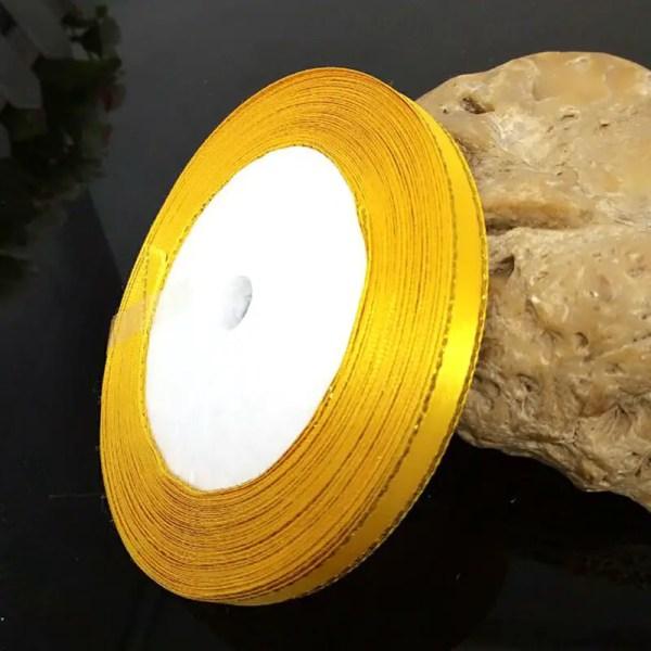 ruban satin de 6 mm jaune