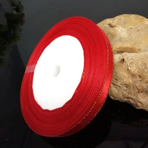 ruban satin 6 mm rouge
