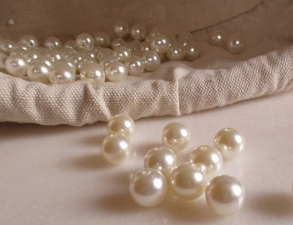 réf 12-p-14-0001 perles blanches 14 mm