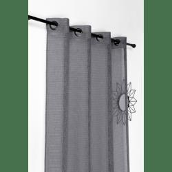 tissu voilage saphir gris