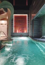 The spa at Revel.  We were here for six hours.  In this spot.  No shame.
