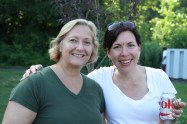 Roxanne Klett and Susan Pollara - two great forces pulling together a fun food truck night