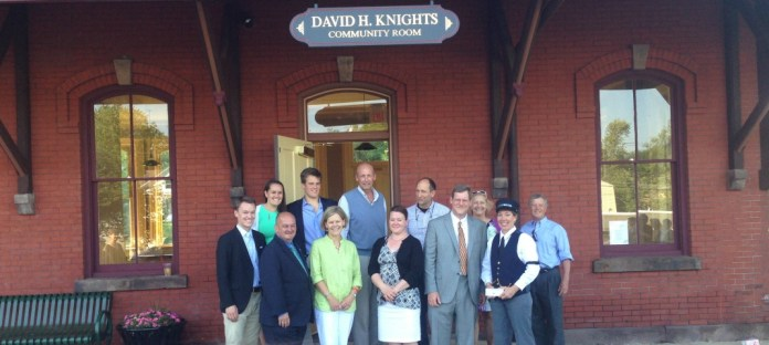 Hopewell Train Station dedicated in memory of David Knights
