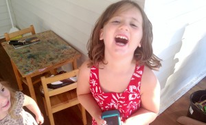 feature child laughing