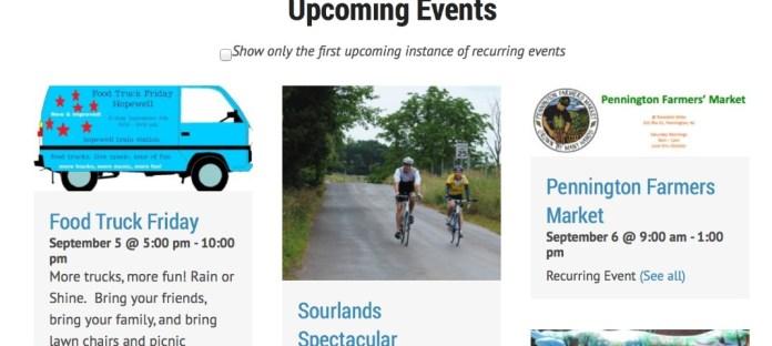 SITE NEWS: Community Calendar