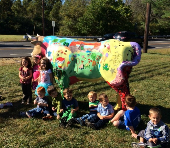 Hopewell Township Celebrates Ox Installation with Local Moms, Kids