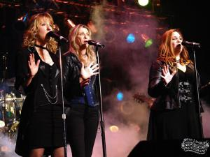 Mary Daniels, far left, performs with Wizards of Winter.