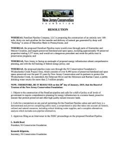 NJCF resolution PennEast pipeline 01-28-15