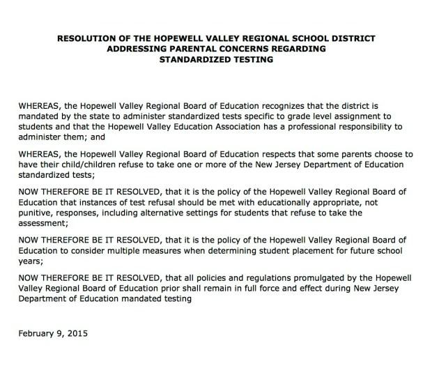 cropped HVRSD PARCC Resolution 2015