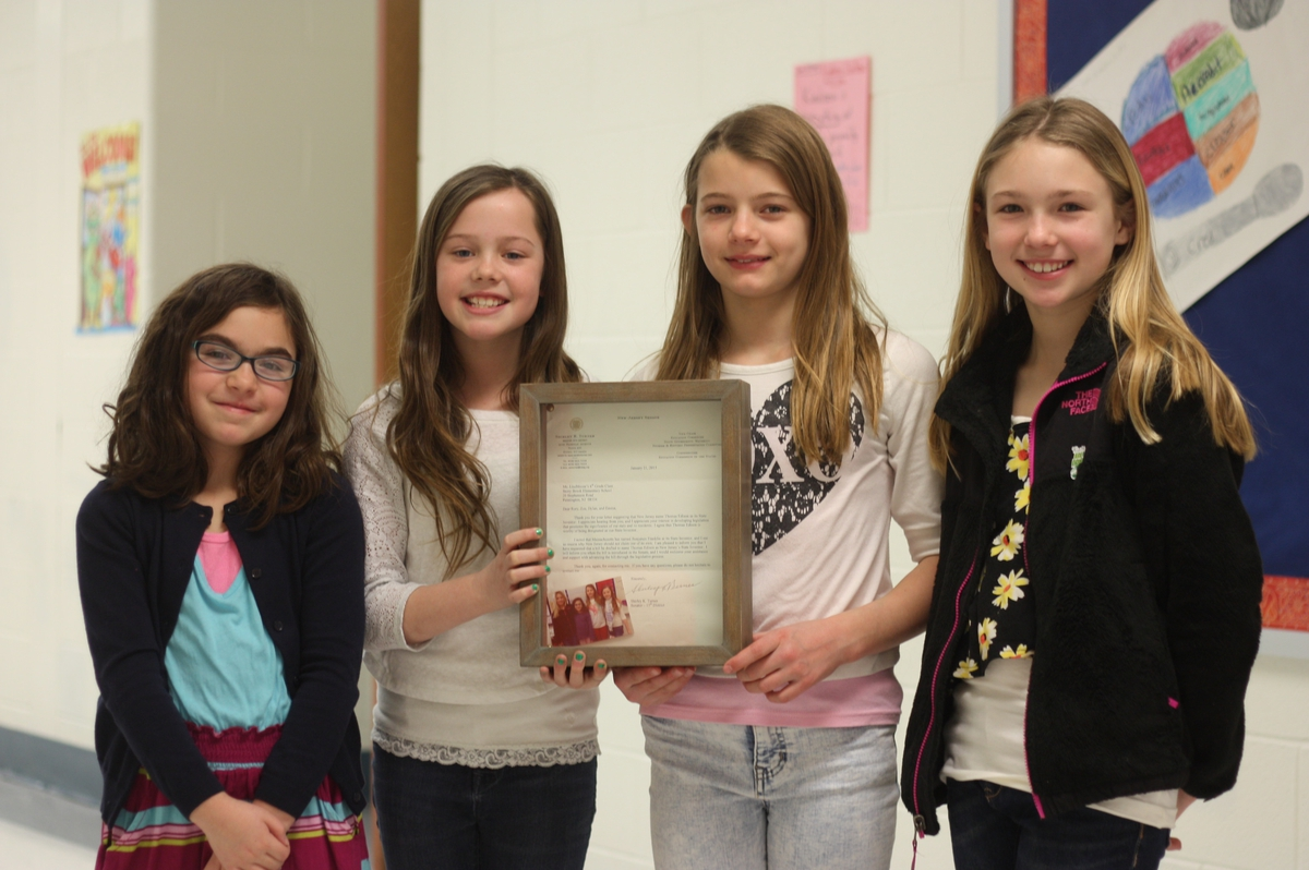 Stony Brook Elementary Fourth Grade Girls Write Bill Now ...