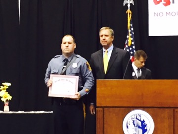 Lawrence Township Officer Awarded by Mothers Against Drunk Driving