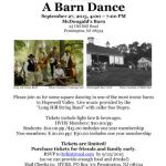 Barn Dance flyer 2015