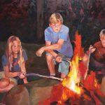 Lilienthal campfire 60×40