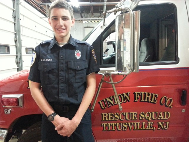 Union Fire Company junior firefighter/EMT Craig Olander