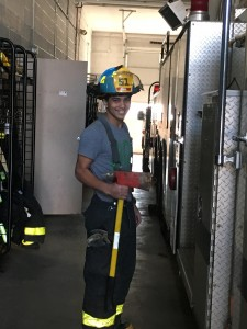 Pennington Fire Company Junior Joe Dev. He is 17, and enrolled in Firefighter 1