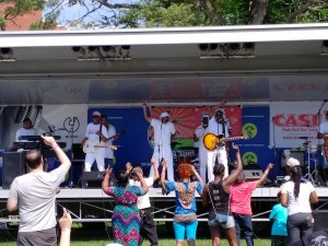 Instant Funk laying down the groove at Mill Hill Park