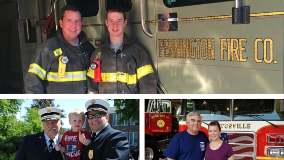 Hopewell Valley Volunteers Follow Dad's Footsteps into the Firehouse